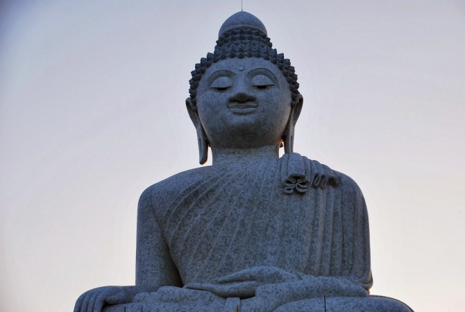The Big Buddha- enlightened by the sun