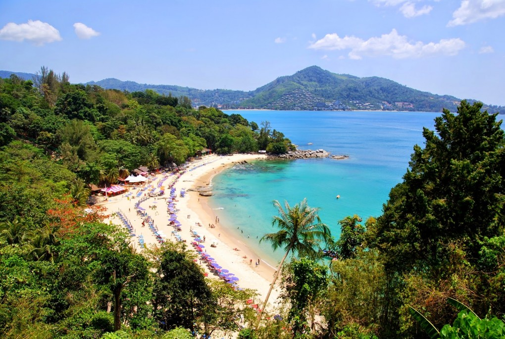 Trying to find a nice, calm beach on Phuket: Leam Sing Beach