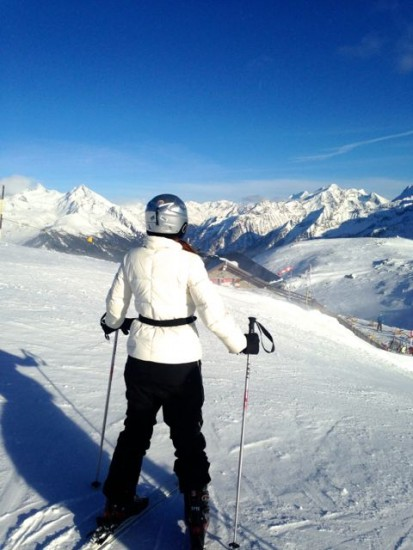 Learning how to ski in South Tyrol