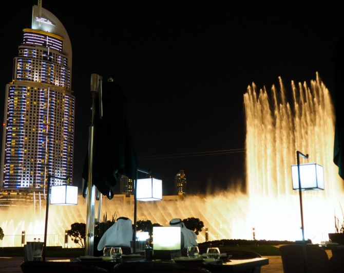 Eating out in Dubai: Armani/Hashi- Japanese food with a great view of the Dubai fountains