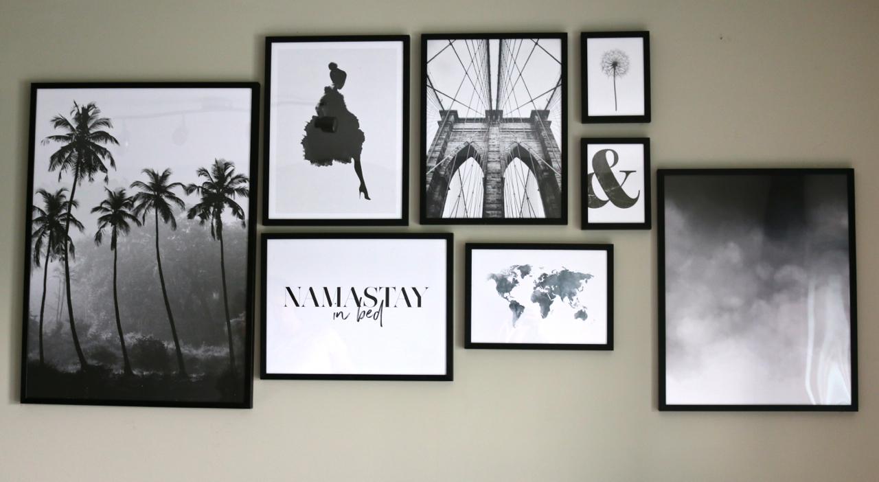 interior inspiration create a gallery wall traveler 39 s little treasures. Black Bedroom Furniture Sets. Home Design Ideas